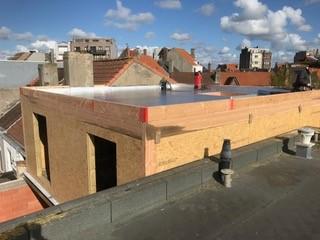 Skeletbouw plat dak